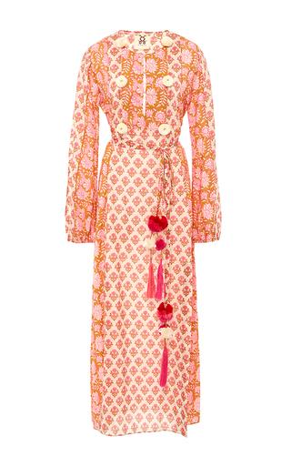 Medium figue pink ravenna maxi printed dress