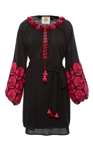 Medium figue navy midnight coco embroidered dress