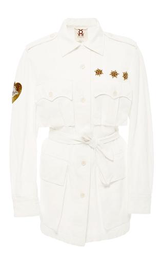 Medium figue off white safari embroidered jacket