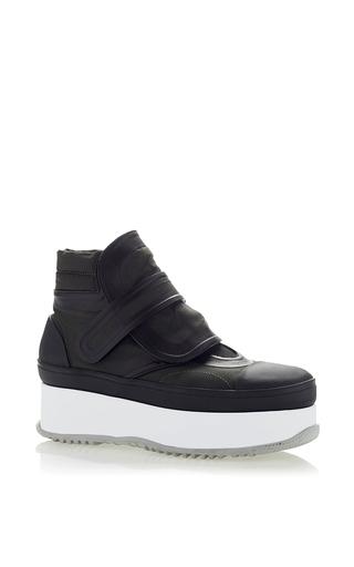 Medium marni black canvas black ankle boot