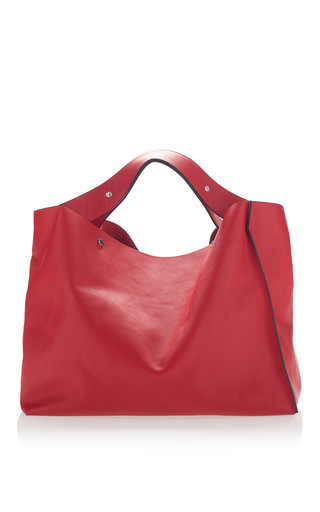 Medium marni red vitello red shoulder bag