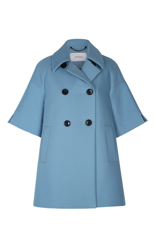 Medium dorothee schumacher light blue touch of passion short sleeve coat