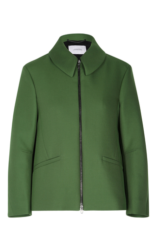 Medium dorothee schumacher green touch of passion boxy jacket