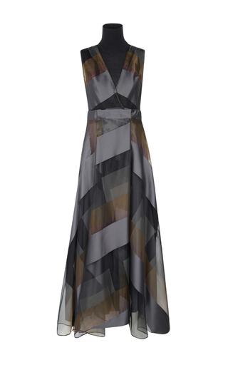 Medium dorothee schumacher stripe layered effects midi turtleneck dress