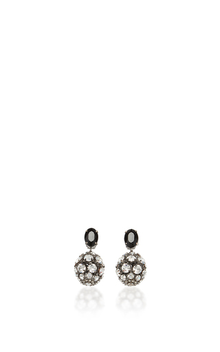 Medium marni silver black and silver strass earrings