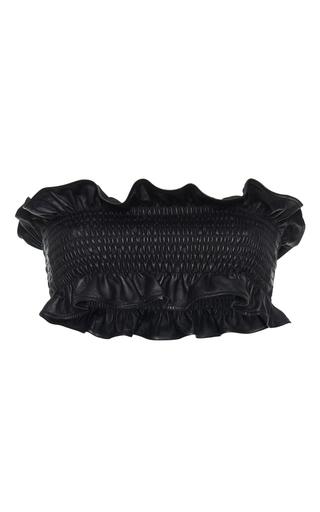 Medium marni black leather bandeau top