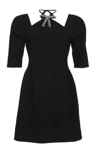 Medium marni black embellished neck mini dress
