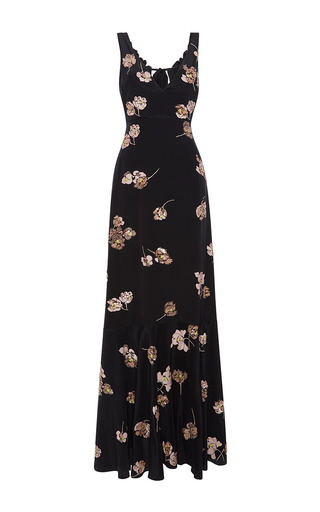 Medium rochas black paillette embroidered gown