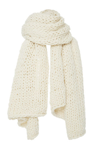 Medium i love mr mittens off white extra large cableknit scarf