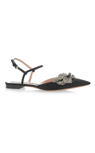 Medium rochas black embellished flats