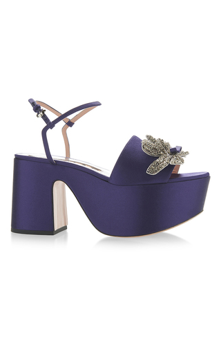 Medium rochas purple raso pumps