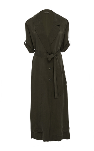Medium hensely brown belted trench dress