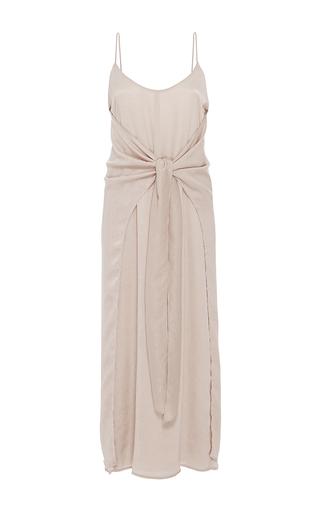 Medium hensely tan knotted slip dress