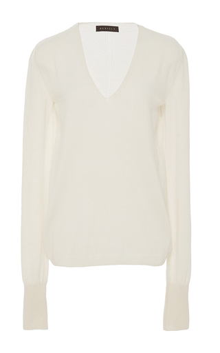 Medium hensely ivory v neck pullover