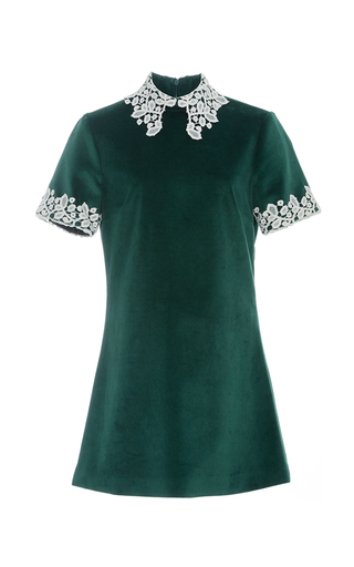 Medium macgraw dark green velvet opium mini dress
