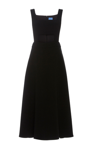 Medium macgraw black antoinette midi cutout dress