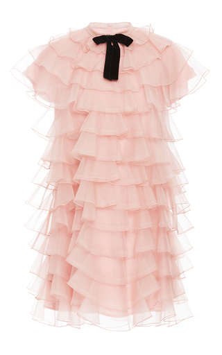 Medium macgraw light pink bon bon ruffled mini dress