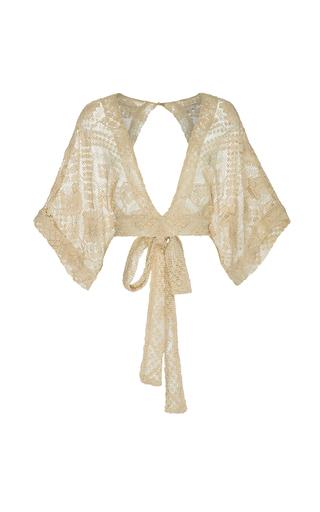 Medium all that remains off white mia kimono crop top