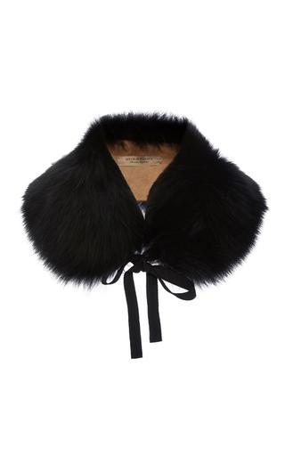 Medium burberry black classic fox collar camel