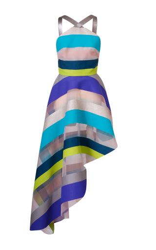 Medium ginger smart stripe stellar halter striped dress