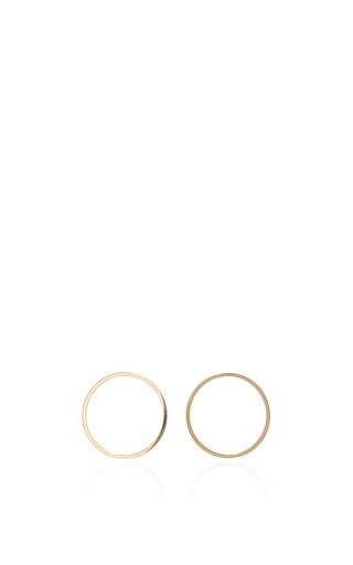 14k Yellow Gold Circle Hoop With Turqouise Drop by MATEO Now Available on Moda Operandi