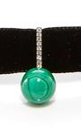 14 K Yellow Gold Diamond And Malachite Ball Choker by MATEO Now Available on Moda Operandi