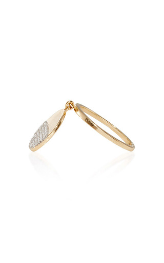 14 K Yellow Gold Half Moon Disk Ring by MATEO Now Available on Moda Operandi