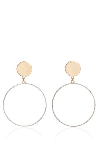 Medium mateo multi 14k yellow gold circle statement earring with diamonds