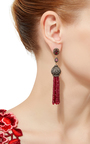 Indorussian Ruby And Diamond Earrings by SANJAY KASLIWAL Now Available on Moda Operandi