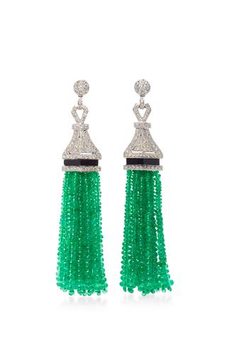 Medium sanjay kasliwal green universal emerald drop earrings