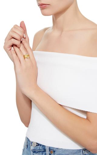 Universal Double Diamond Ring by SANJAY KASLIWAL Now Available on Moda Operandi