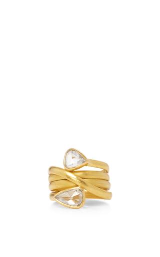 Medium sanjay kasliwal gold universal double diamond ring