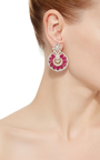 Universal Ruby Drop Earrings by SANJAY KASLIWAL Now Available on Moda Operandi