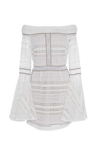 Medium we are kindred ivory daisy off the shoulder mini dress