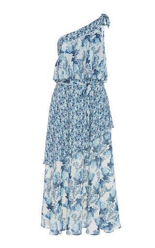 Medium we are kindred blue iris one shoulder flutter dress