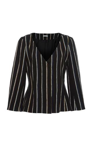 Medium protagonist stripe shaped jacquard jacket