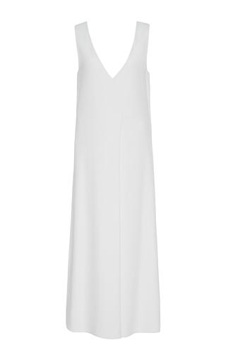 Medium protagonist ivory overlap v neck dress
