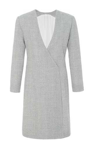 Medium protagonist light grey plaid jacket dress