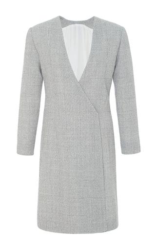 Medium protagonist light grey plaid jacket dress