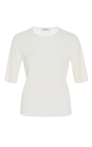 Medium protagonist ivory superfine short sleeve rib t shirt