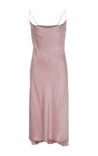 Medium protagonist light pink draped slip dress