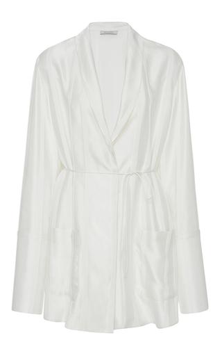 Medium protagonist off white jacquard pajama shirt