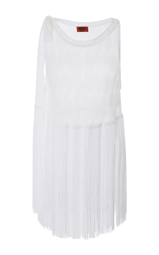 Medium missoni mare white fringe hem blouse