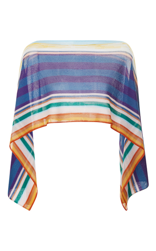Medium missoni mare stripe draped bateau neck blouse
