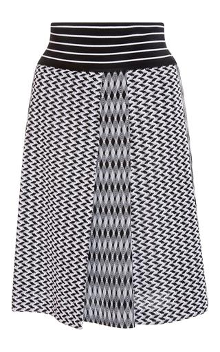 Medium missoni print a line pleated skirt