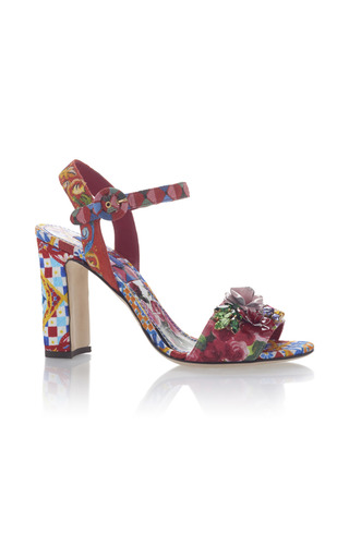 Medium dolce gabbana multi printed sandals