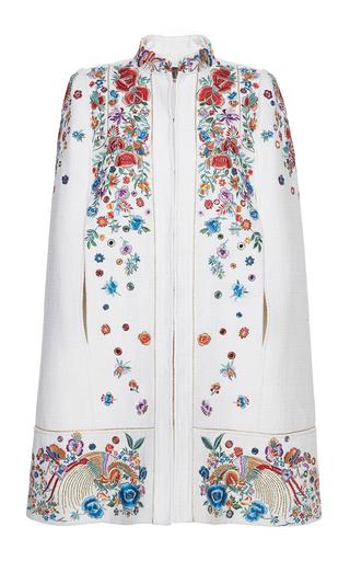 Medium roberto cavalli floral floral embroidered tweed cape