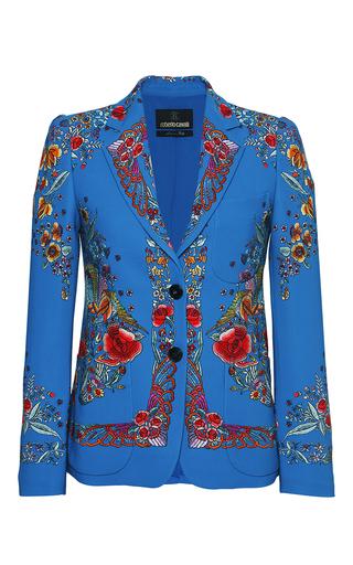 Medium roberto cavalli floral floral embroidered stretch cady blazer