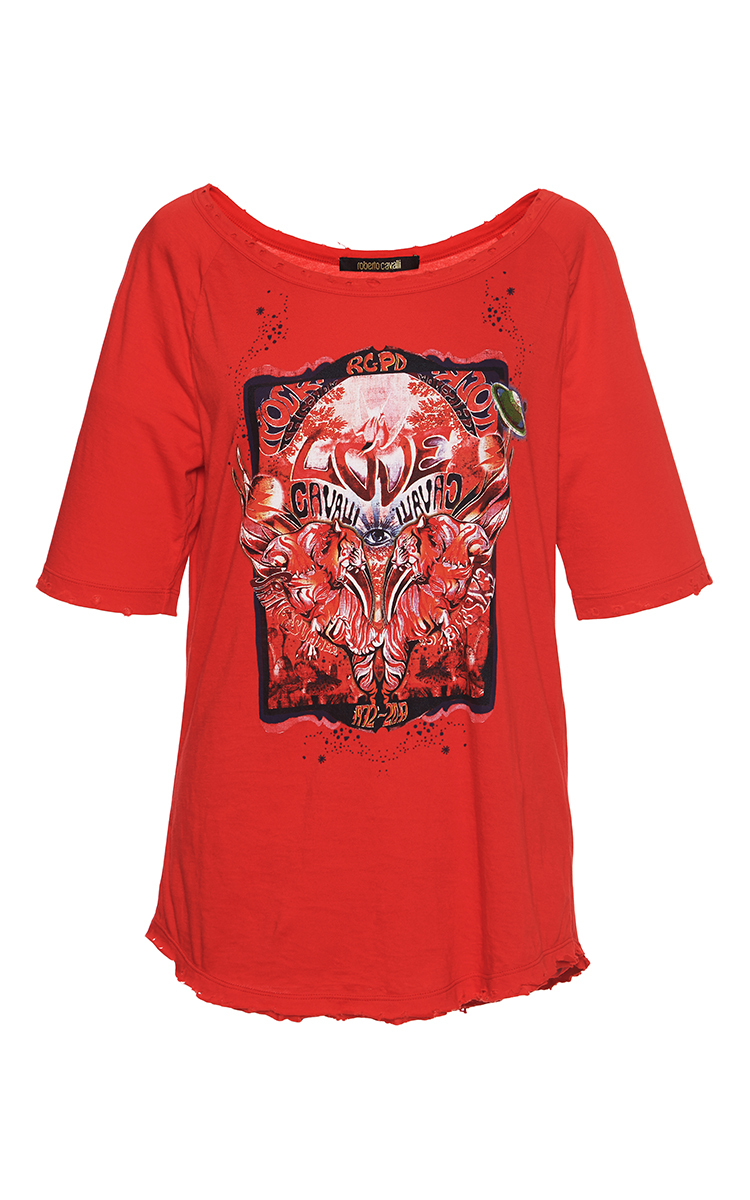 Screen Printed T Shirt By Roberto Cavalli Moda Operandi