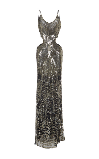 Medium roberto cavalli print animal printed scoop neck gown